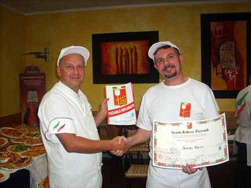 I partecipanti del Corso per Pizzaioli di Ottobre 2010 // Corso Pizzaioli Ottobre 2010